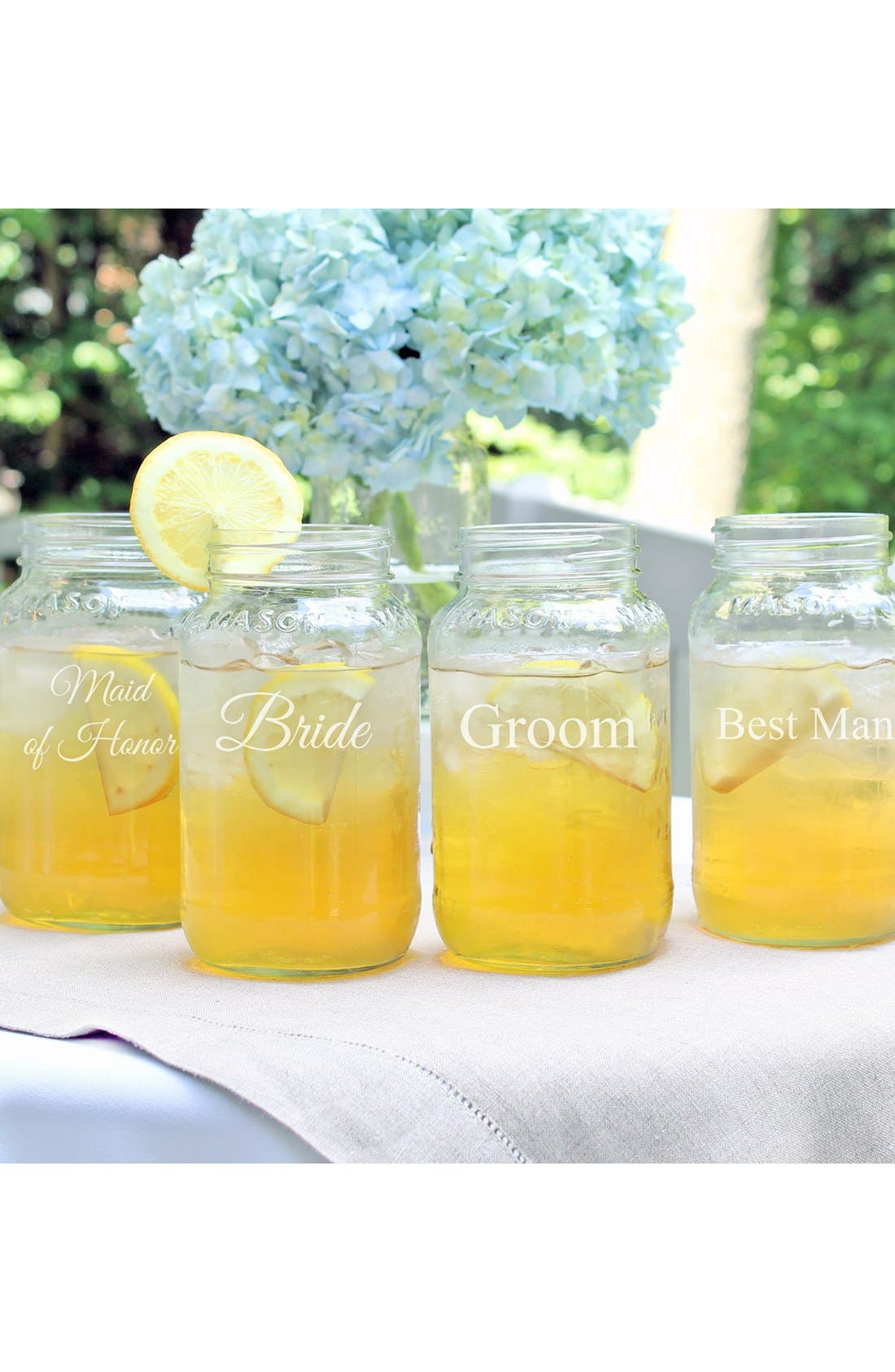 Main Image - Cathy's Concepts 'Wedding Party' Mason Jars (Set of 4)