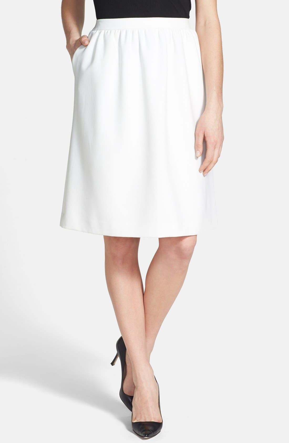 Alternate Image 1 Selected - Chelsea28 Shirred Woven Skirt