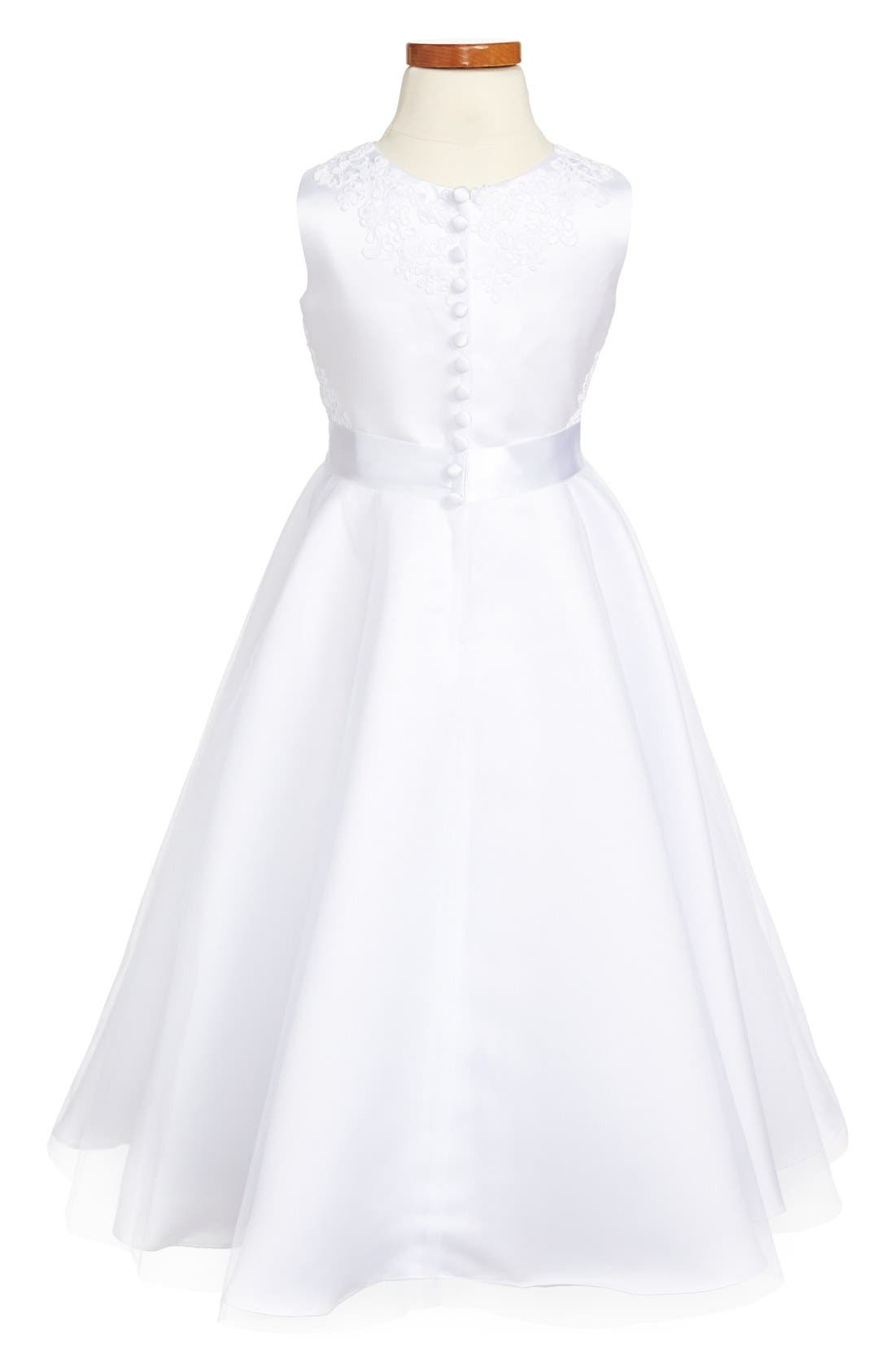 Alternate Image 2  - Joan Calabrese for Mon Cheri First Communion Dress (Little Girls & Big Girls)