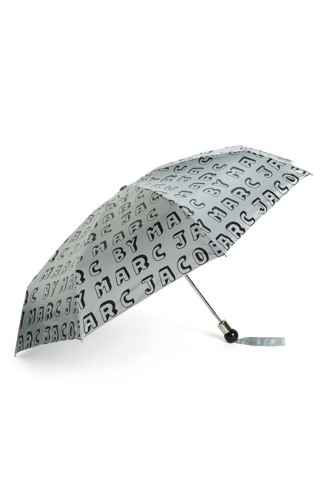 MARC BY MARC JACOBS 'Dynamite Logo' Umbrella,                         Main,                         color, Black Multi