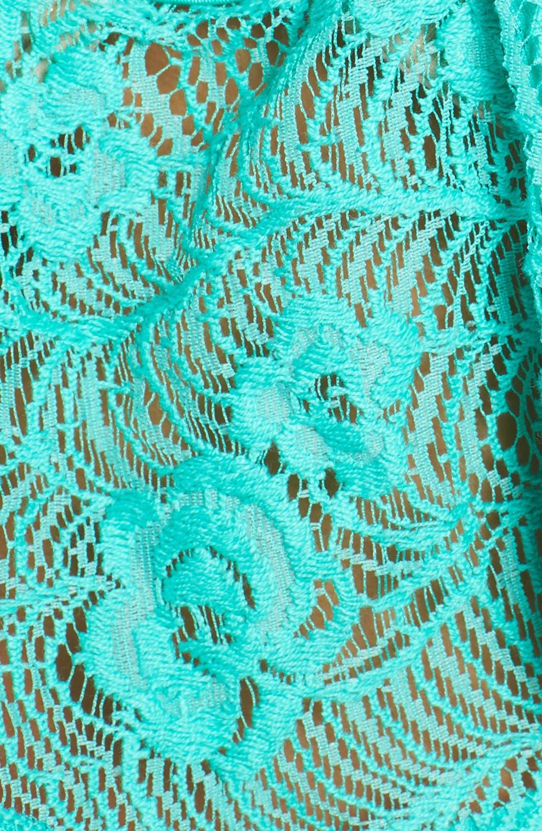 Alternate Image 5  - Luli Fama 'Sabor a Menta' Lace Flutter Underwire Push-Up Bikini Top