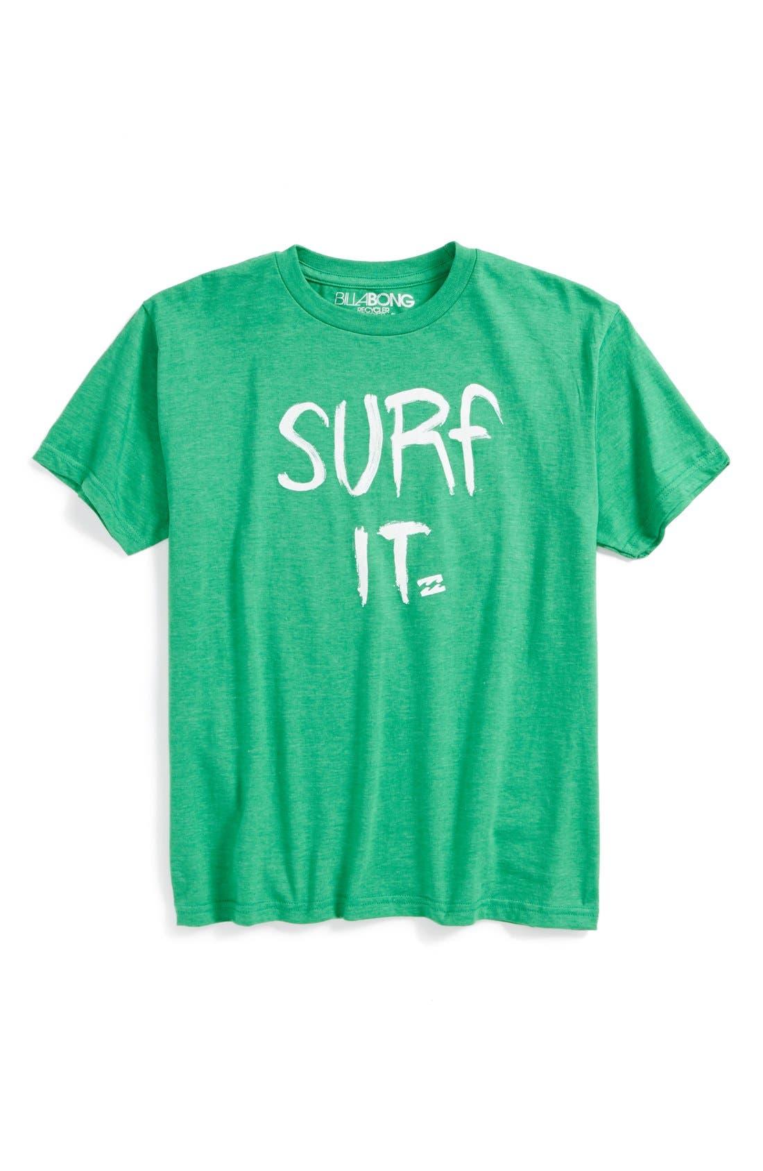Alternate Image 1 Selected - Billabong 'Surf It' T-Shirt (Big Boys)
