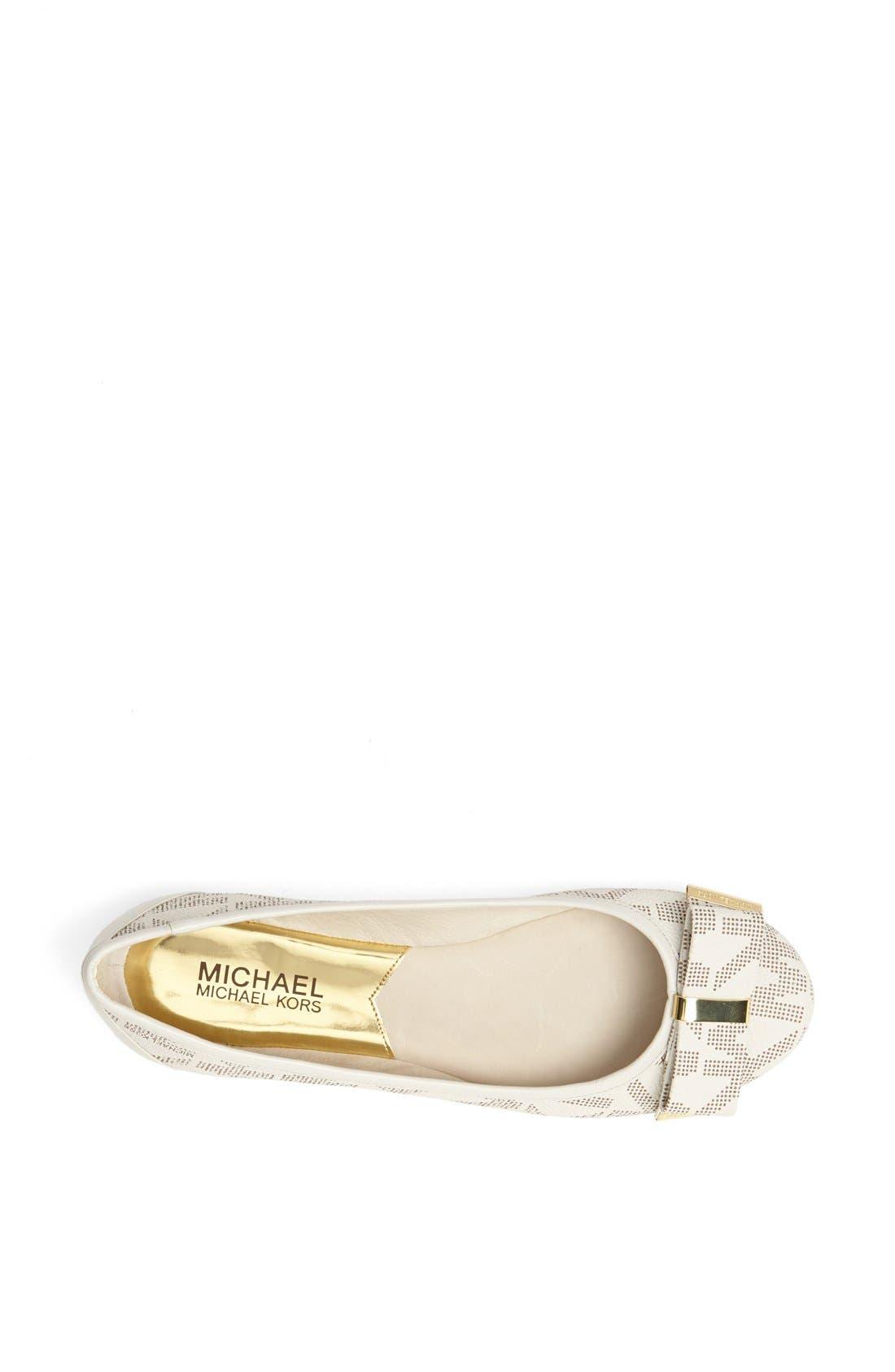 Alternate Image 3  - MICHAEL Michael Kors 'Kiera' Leather Ballet Flat