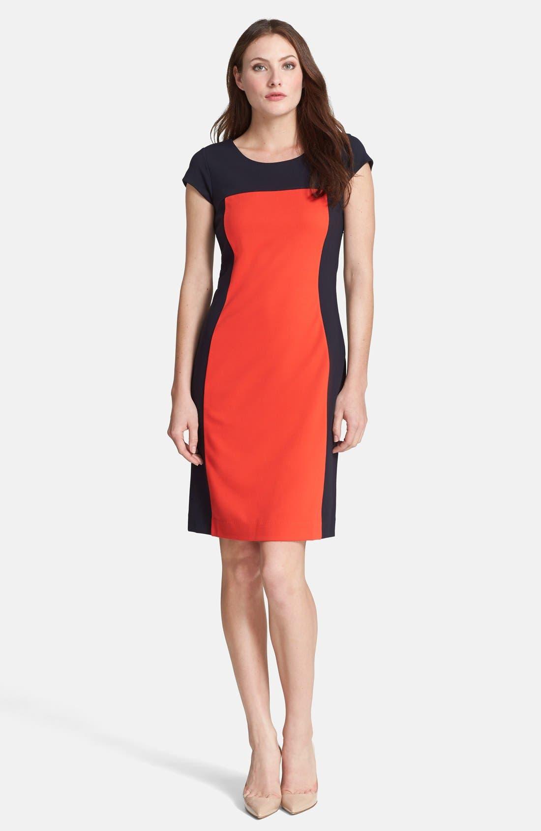 Alternate Image 1 Selected - BOSS HUGO BOSS Colorblock Jersey Dress