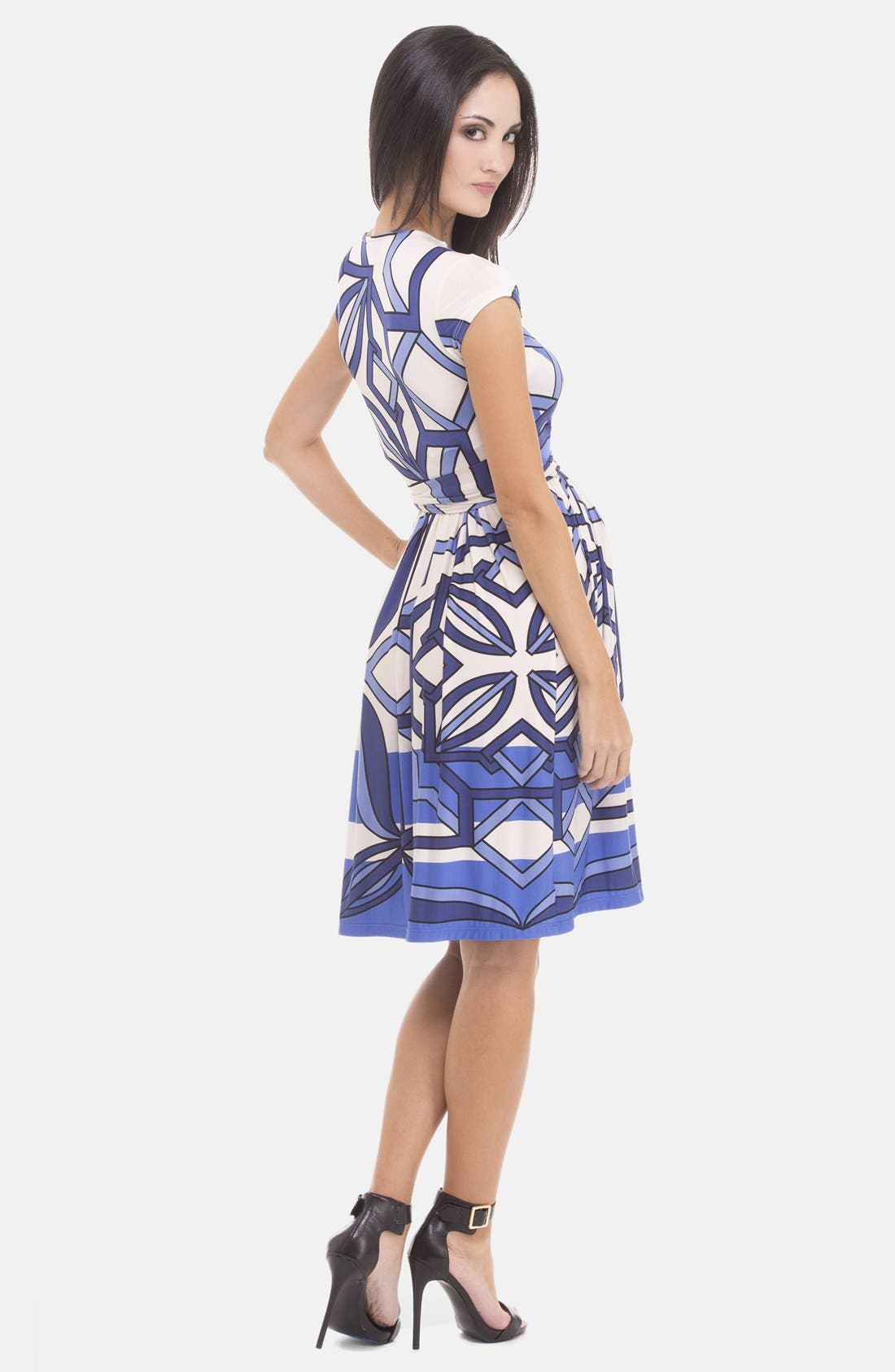 Alternate Image 2  - Olian Print Maternity Dress