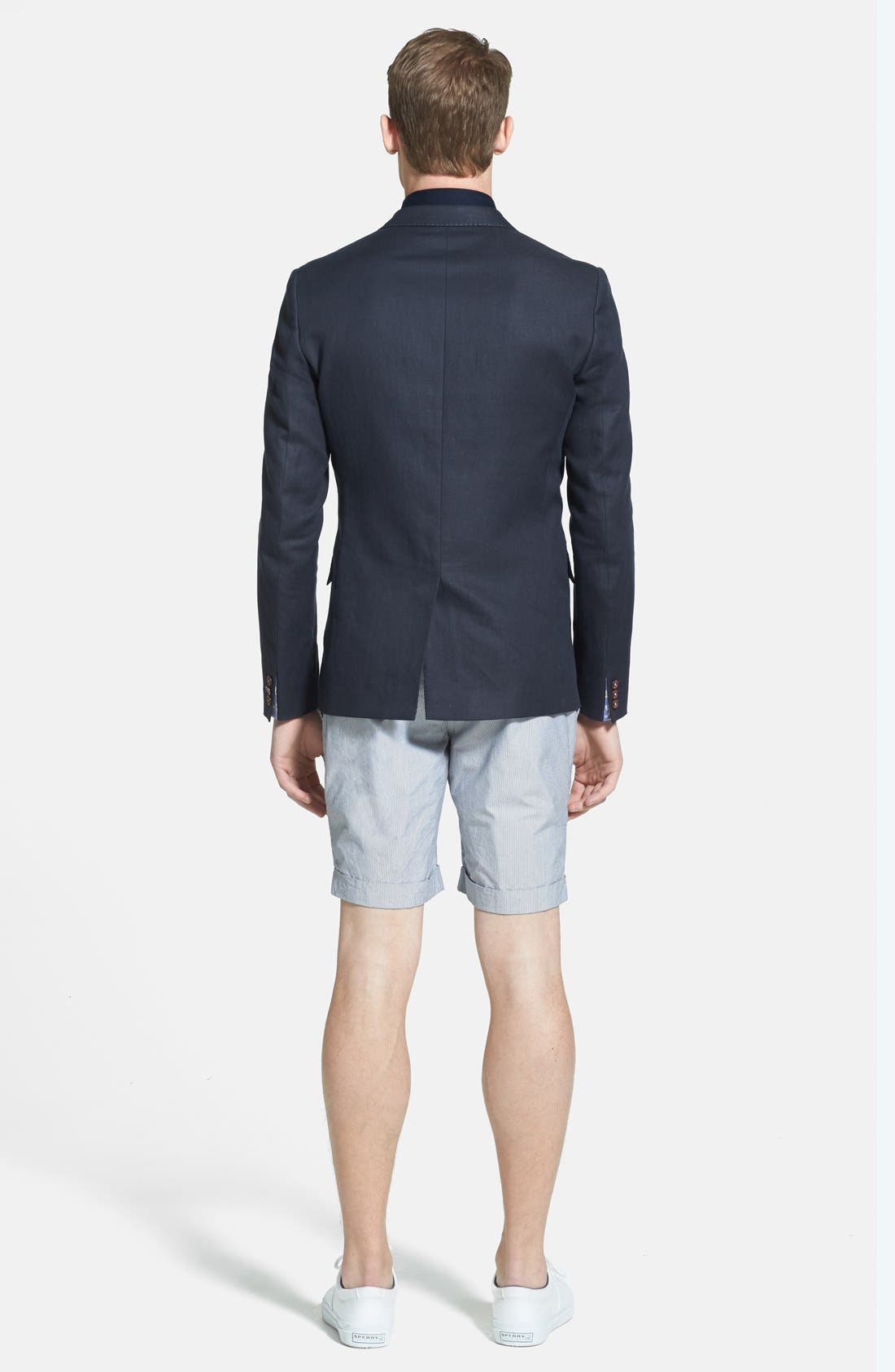 Alternate Image 5  - Ted Baker London 'Staddle' Slim Fit Stripe Shorts
