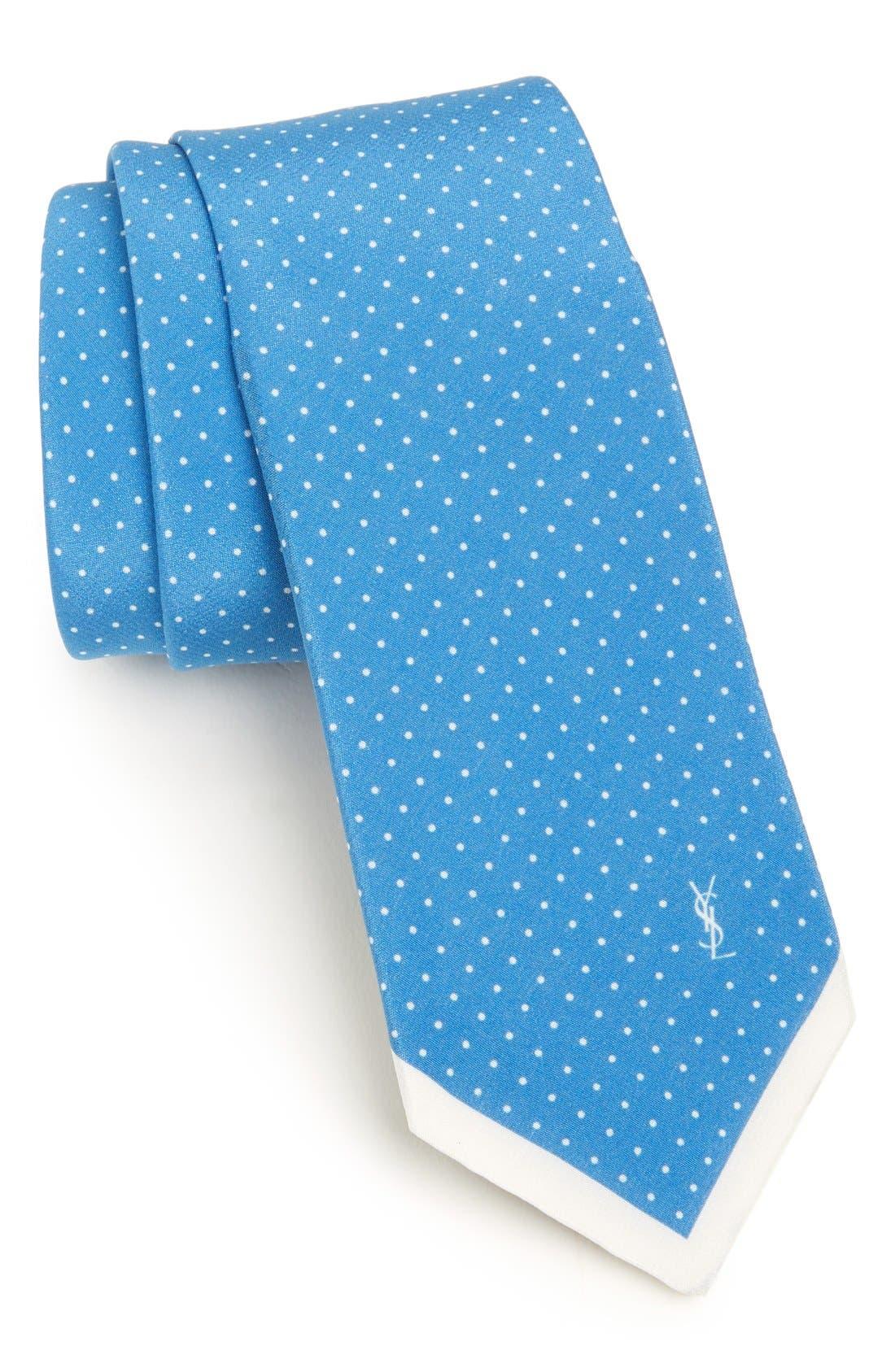 Alternate Image 1 Selected - Yves Saint Laurent Woven Silk Tie