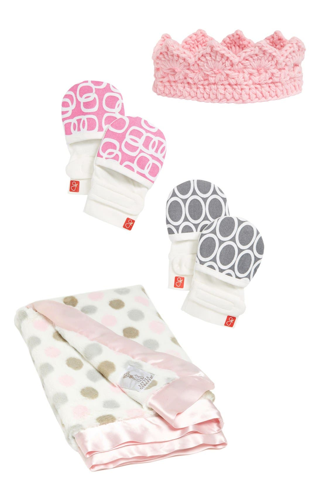 'Luxe Dot' Blanket,                             Alternate thumbnail 3, color,                             Pink