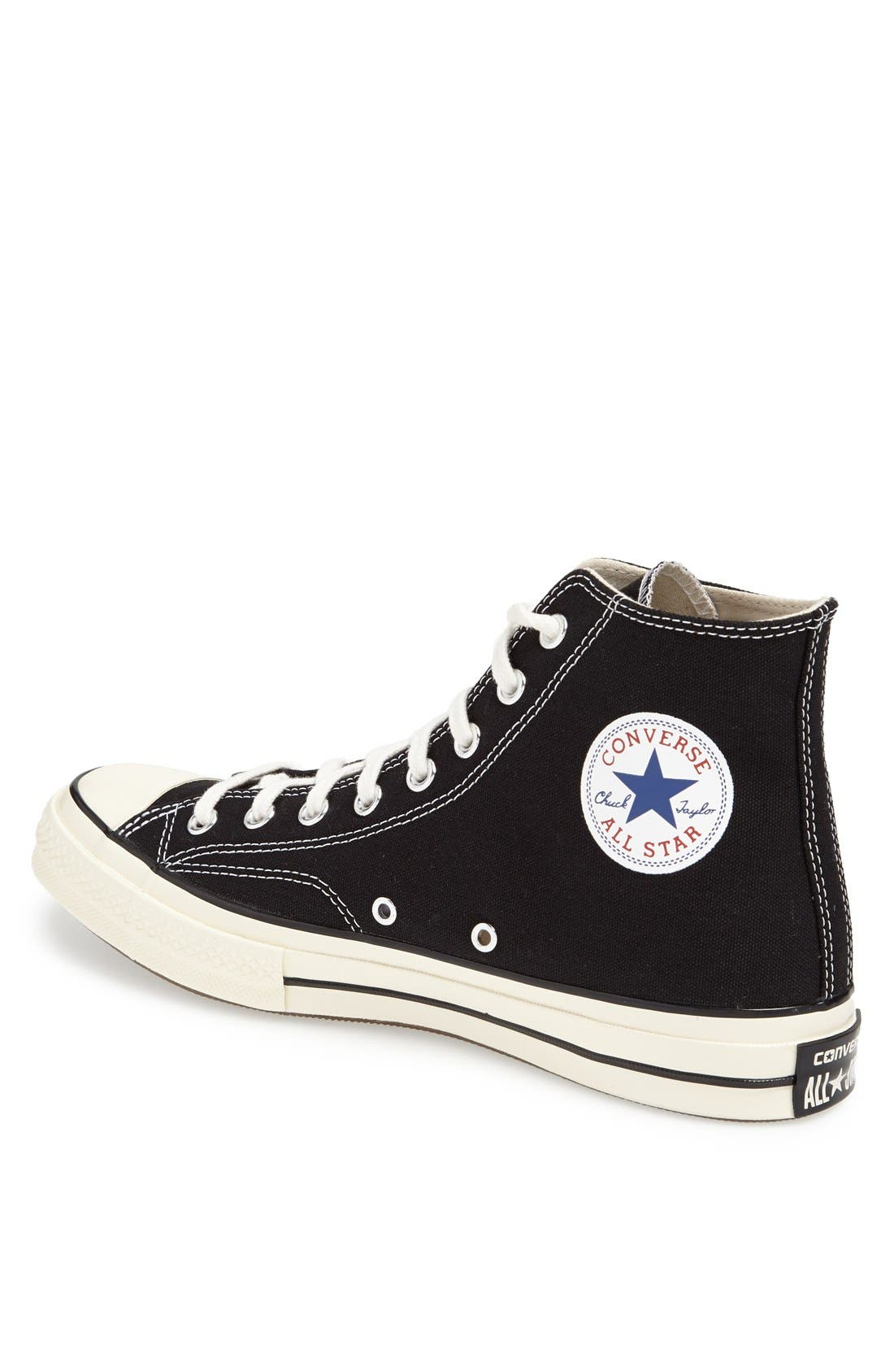 Chuck Taylor<sup>®</sup> All Star<sup>®</sup> '70 High Sneaker,                             Alternate thumbnail 2, color,                             Black