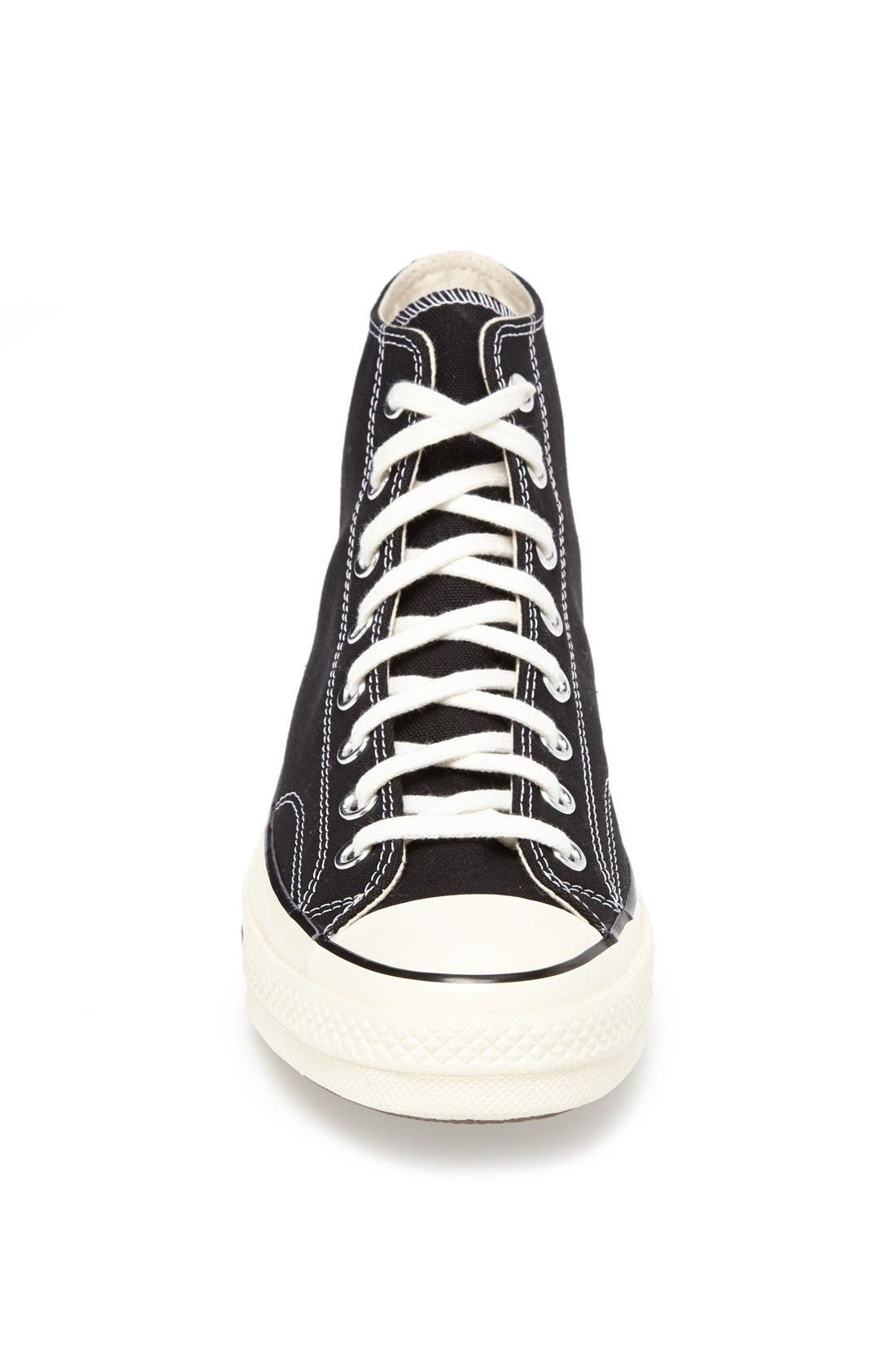 Chuck Taylor<sup>®</sup> All Star<sup>®</sup> '70 High Sneaker,                             Alternate thumbnail 3, color,                             Black