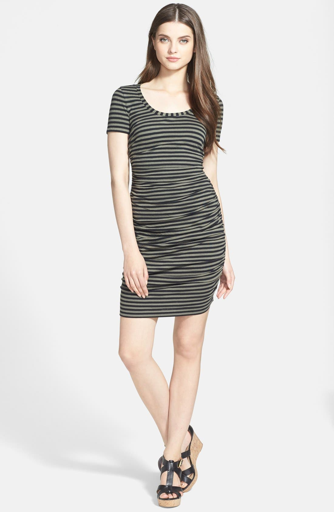Main Image - Caslon® Ruched Knit Dress