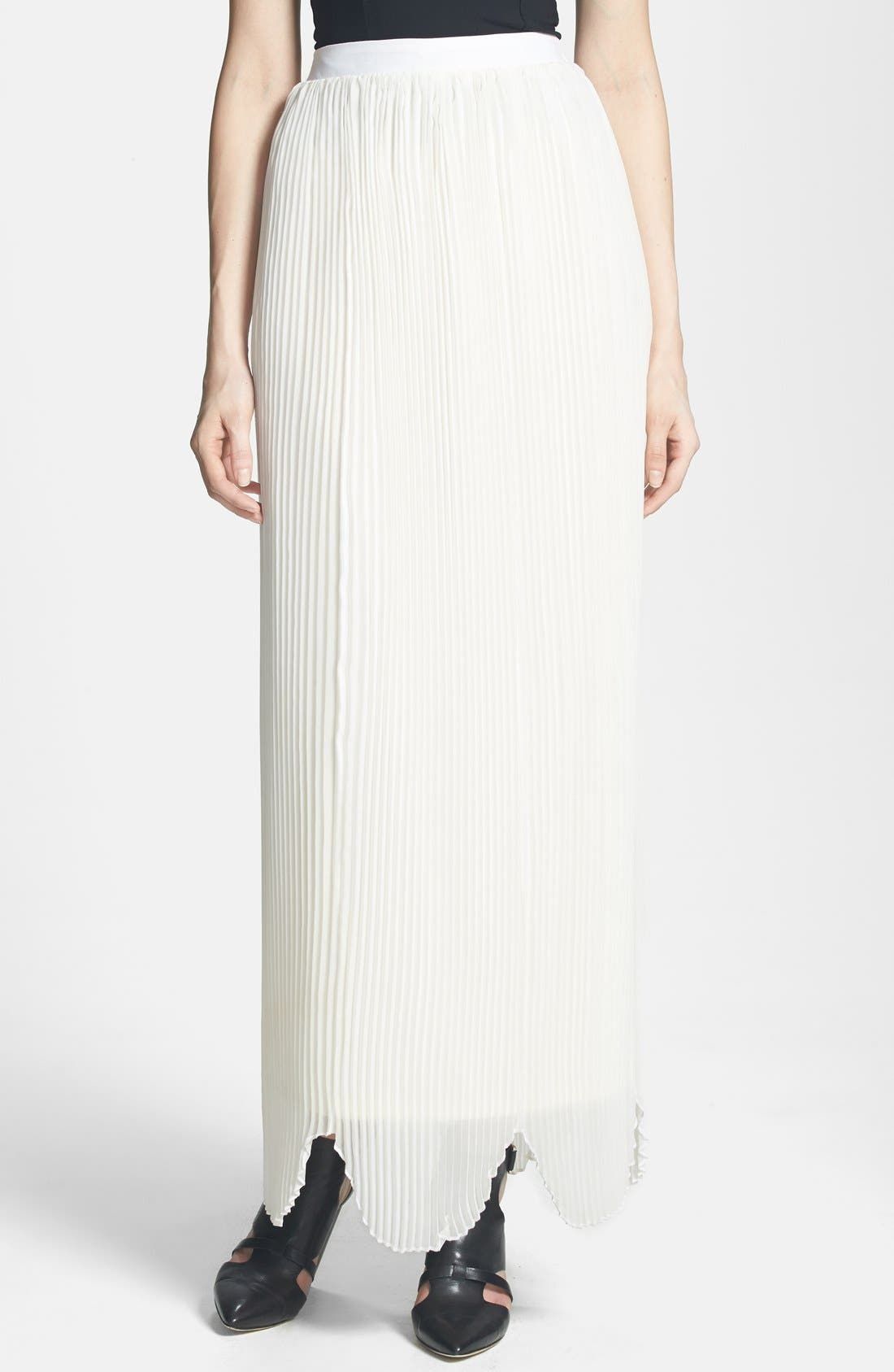 Main Image - Rules of Etiquette 'Olivia' Pleated Maxi Skirt