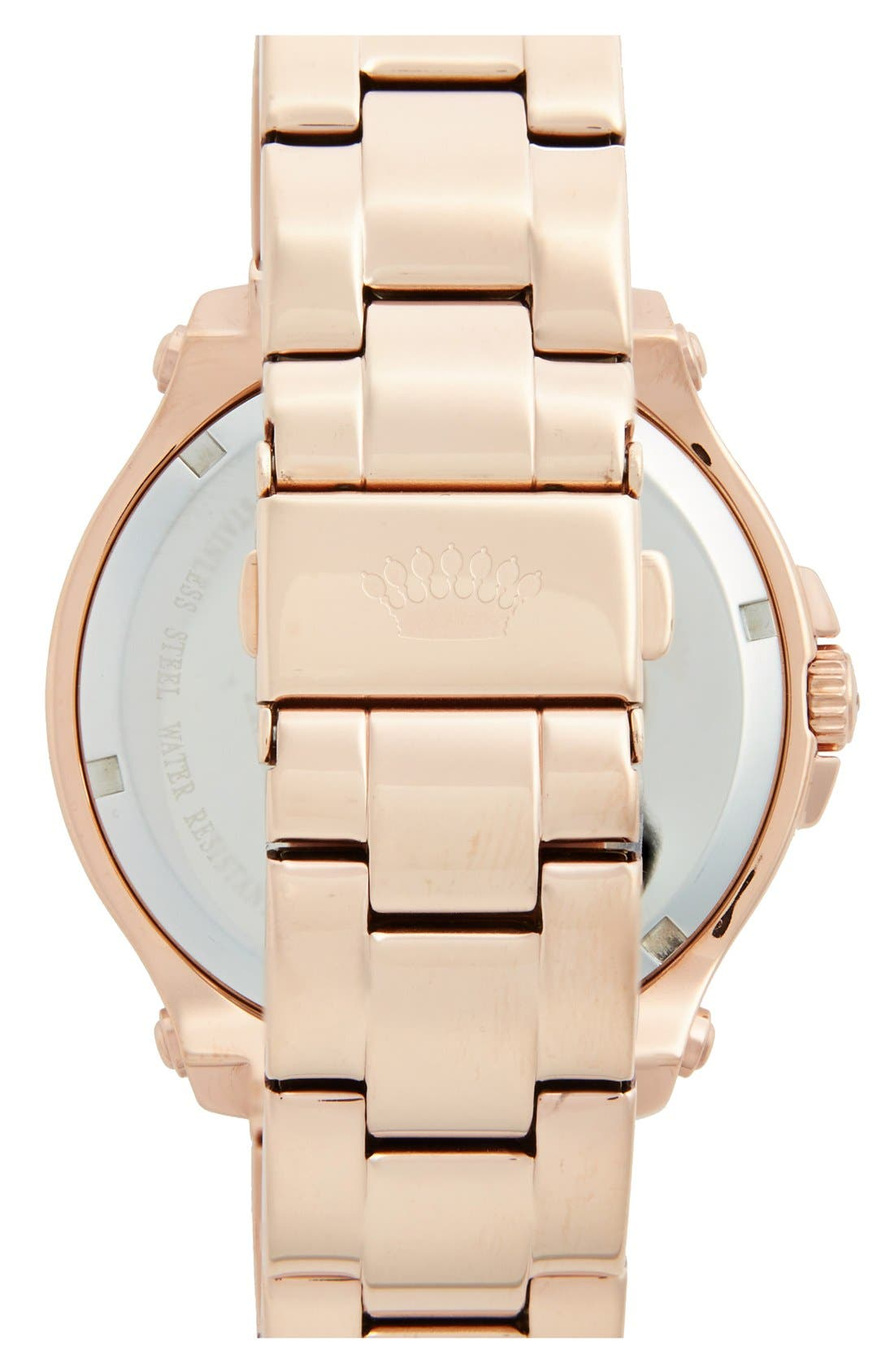 Alternate Image 2  - Juicy Couture 'Pedigree' Multifunction Bracelet Watch, 42mm