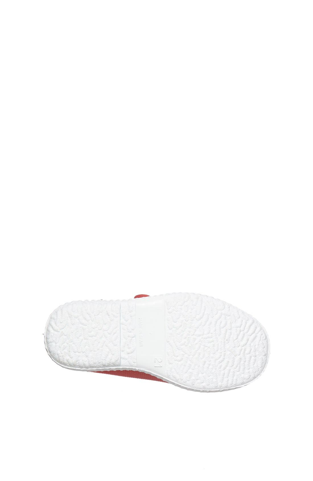 Canvas Sneaker,                             Alternate thumbnail 4, color,                             Red