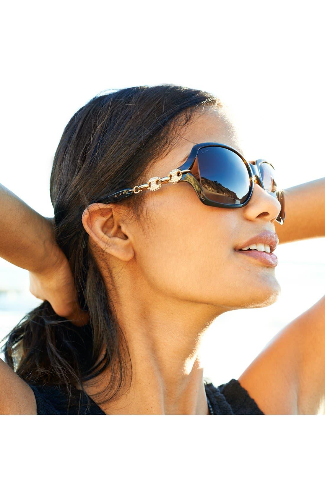 Alternate Image 2  - Gucci 'Marina Chain' 59mm Swarovski Crystal Sunglasses