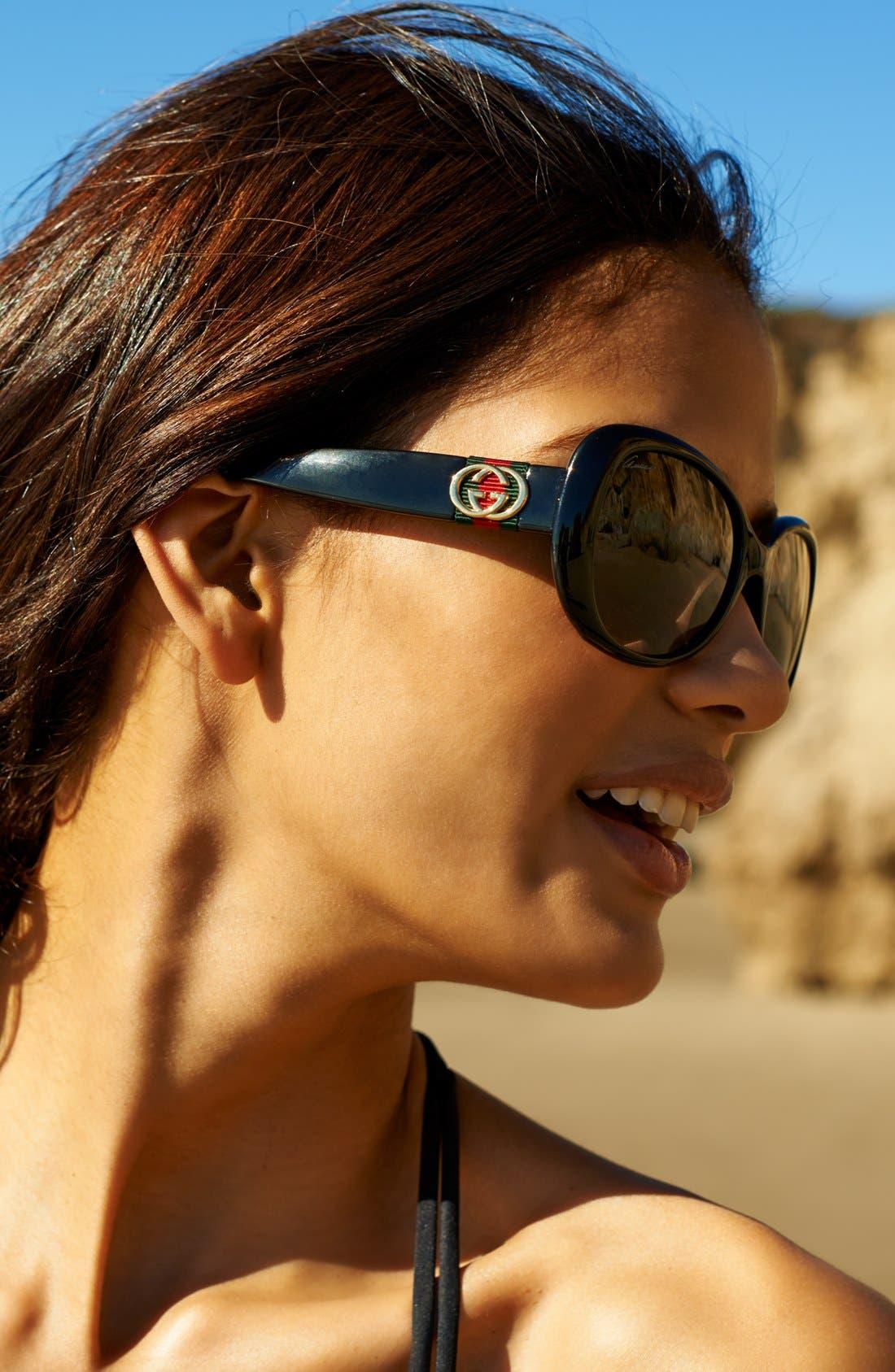 Alternate Image 2  - Gucci 56mm Polarized Sunglasses