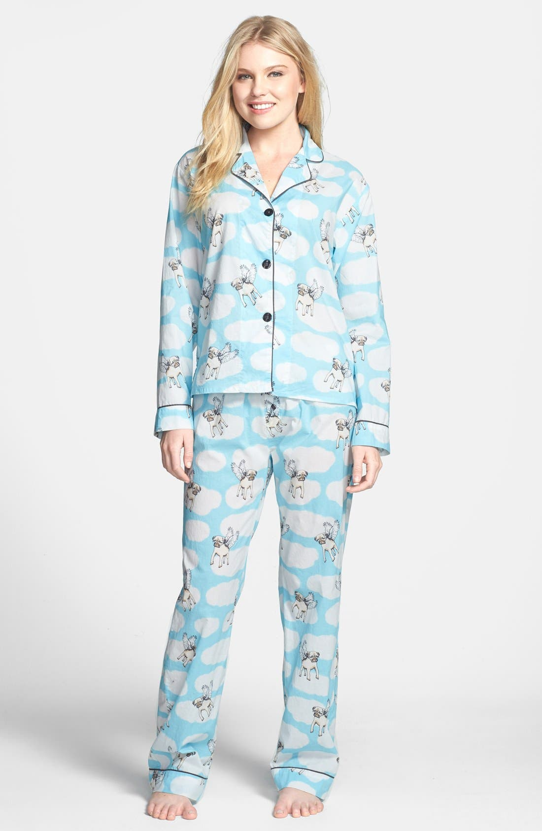 Alternate Image 1 Selected - PJ Salvage 'Playful Prints' Cotton Voile Pajamas