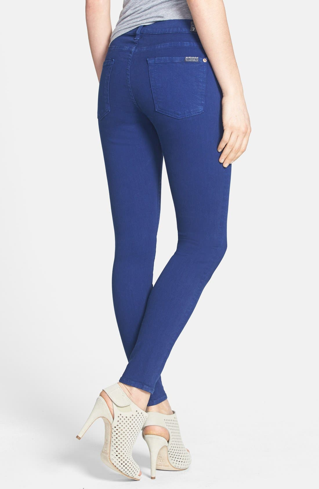Alternate Image 2  - 7 For All Mankind® 'The Ankle Skinny' Jeans (Sapphire)