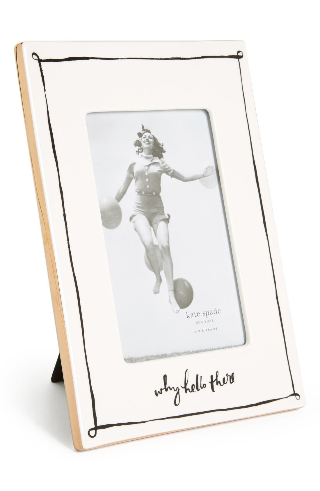 Main Image - kate spade new york 'why hello there' frame (4x6)