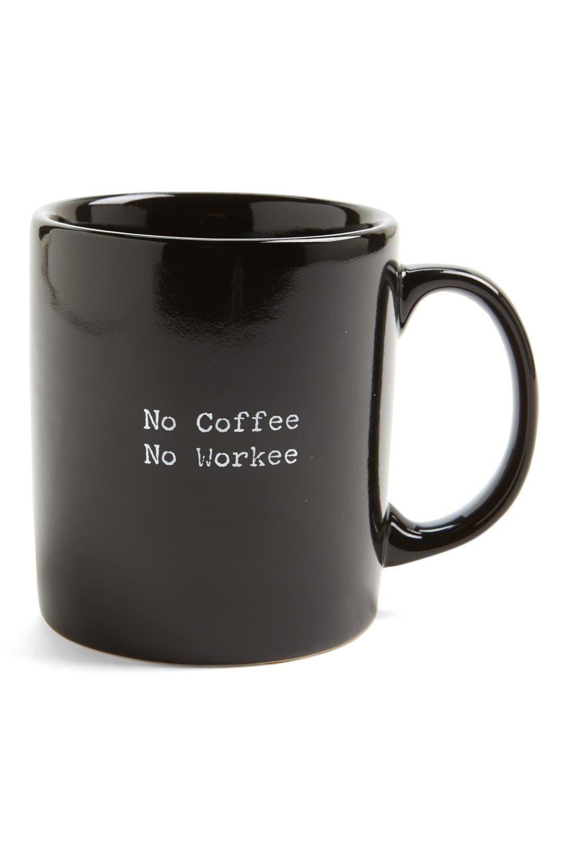 Alternate Image 1 Selected - Trash Talk by Annie 'No Coffee No Workee' Mug