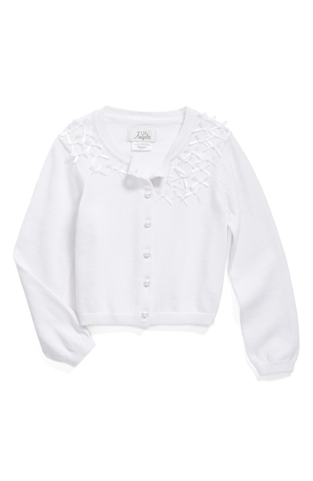 Alternate Image 1 Selected - Us Angels Communion Cardigan Sweater (Toddler Girls, Little Girls & Big Girls)