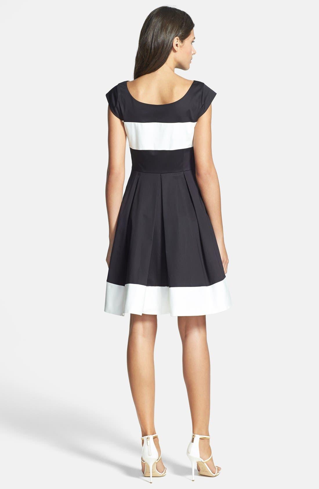 Alternate Image 2  - kate spade new york 'adette' colorblock woven fit & flare dress