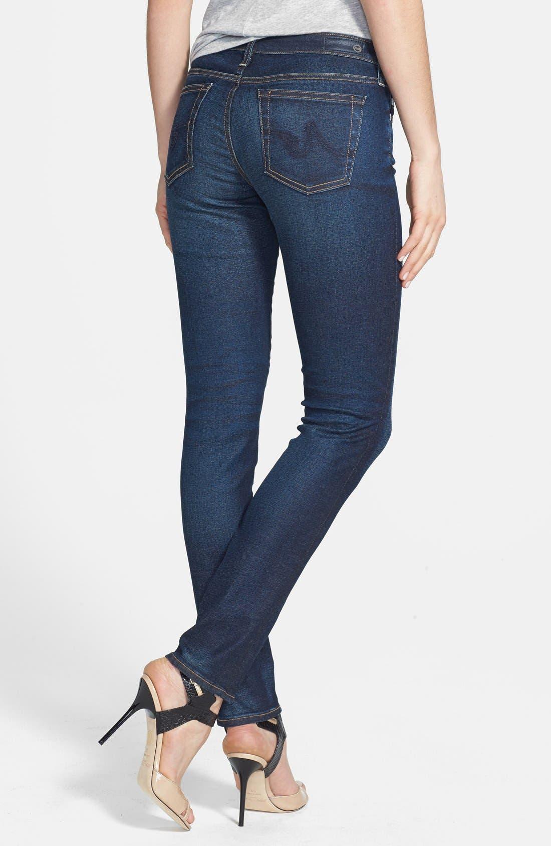 Alternate Image 2  - AG 'The Stilt' Cigarette Leg Jeans (Three Year Propell)