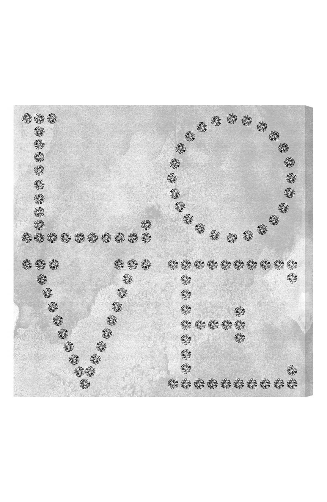 'Love Diamonds' Wall Art,                             Main thumbnail 1, color,                             Grey