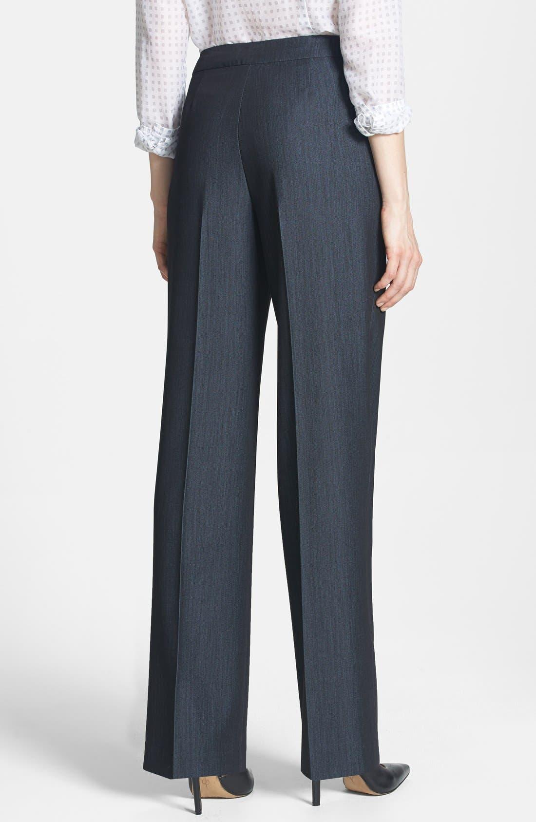 Alternate Image 2  - Jones New York 'Sloane' Stretch Denim Mid Rise Pants (Regular & Petite)