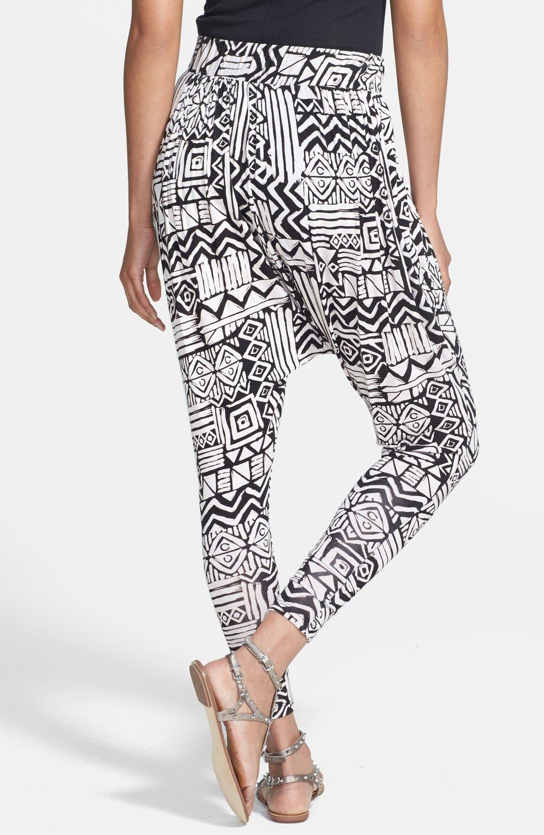 Alternate Image 2  - Nikki Rich Print Harem Pants