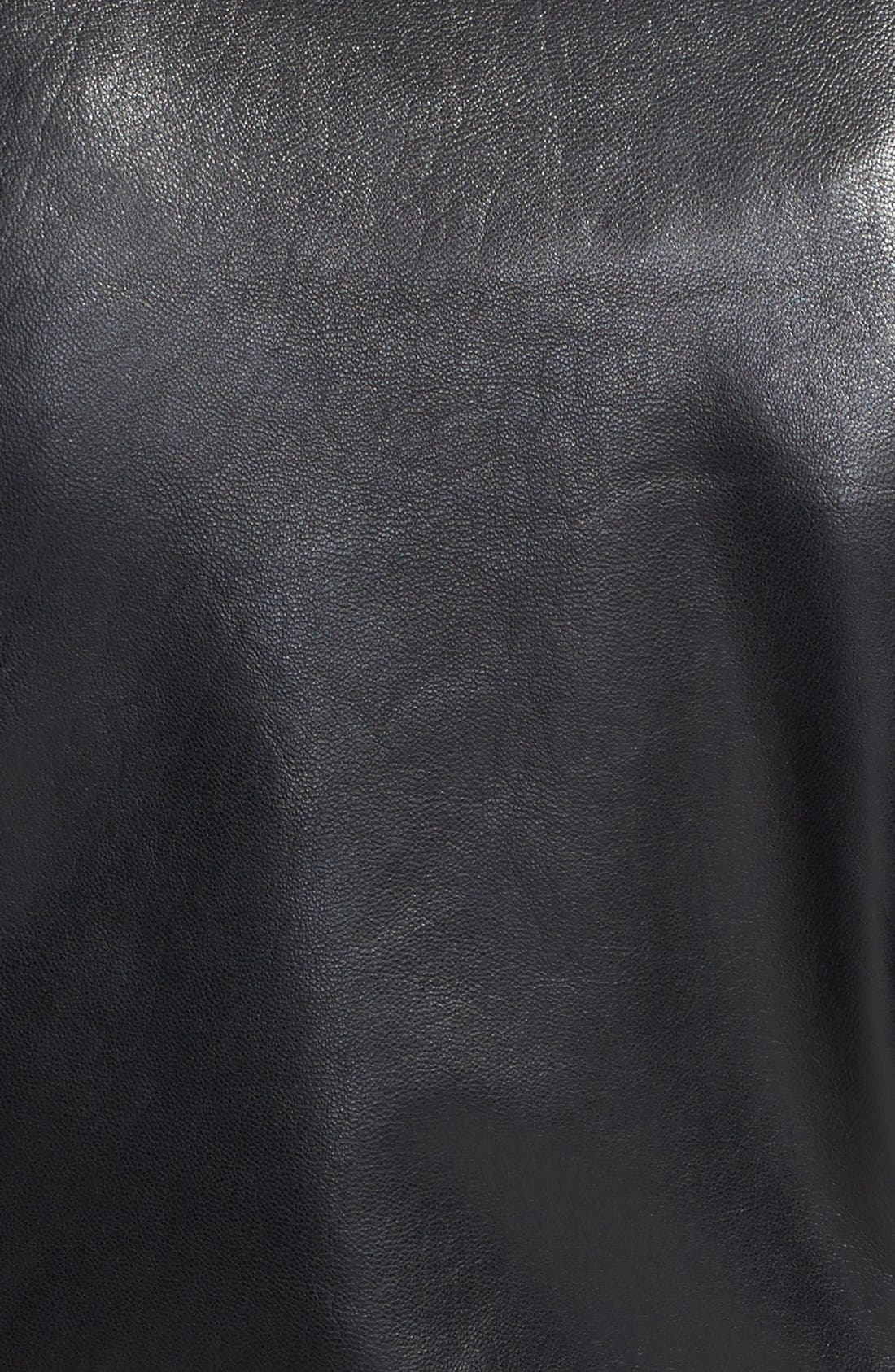 Alternate Image 3  - Vince Camuto Collarless Leather Jacket