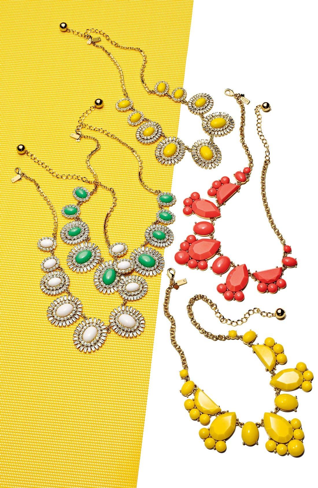Alternate Image 3  - kate spade new york 'capri garden' oval frontal necklace