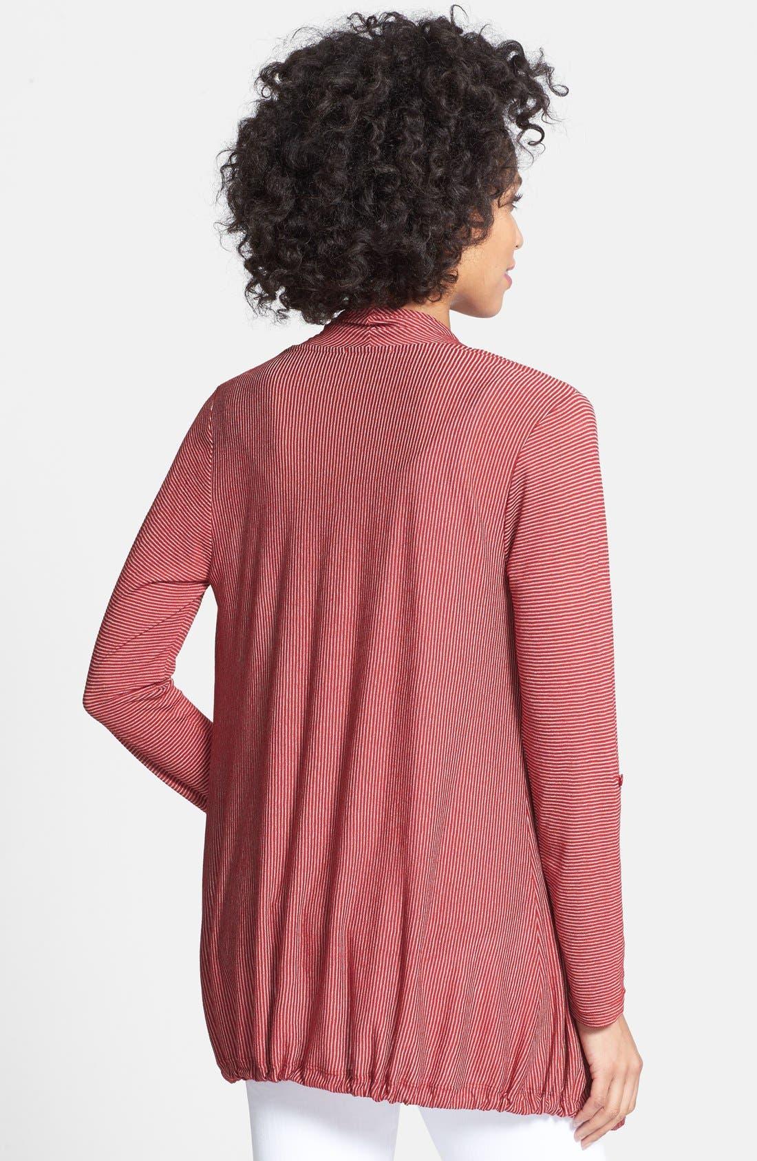 Alternate Image 2  - Pleione Drawstring Hem Drape Front Cardigan