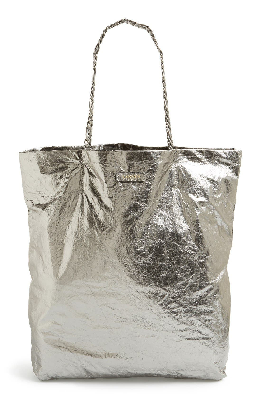 Alternate Image 1 Selected - Lanvin 'Paper Bag' Laminated Lambskin Tote