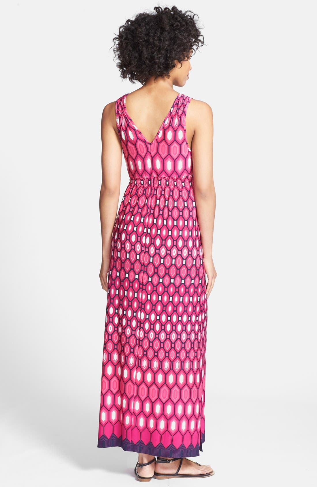 Alternate Image 2  - Laundry by Shelli Segal Print Surplice V-Neck Maxi Dress