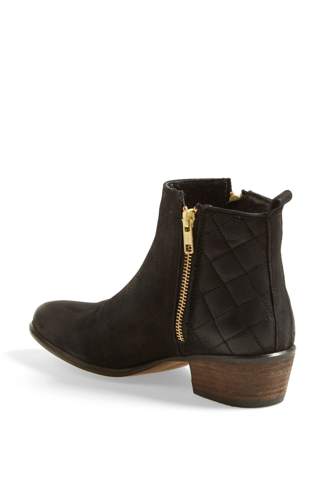 'Nyrvana' Boot,                             Alternate thumbnail 2, color,                             Black Leather