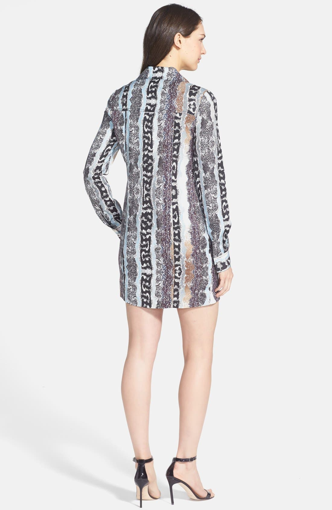 Alternate Image 2  - Diane von Furstenberg 'Dilly' Linen & Silk Shirtdress