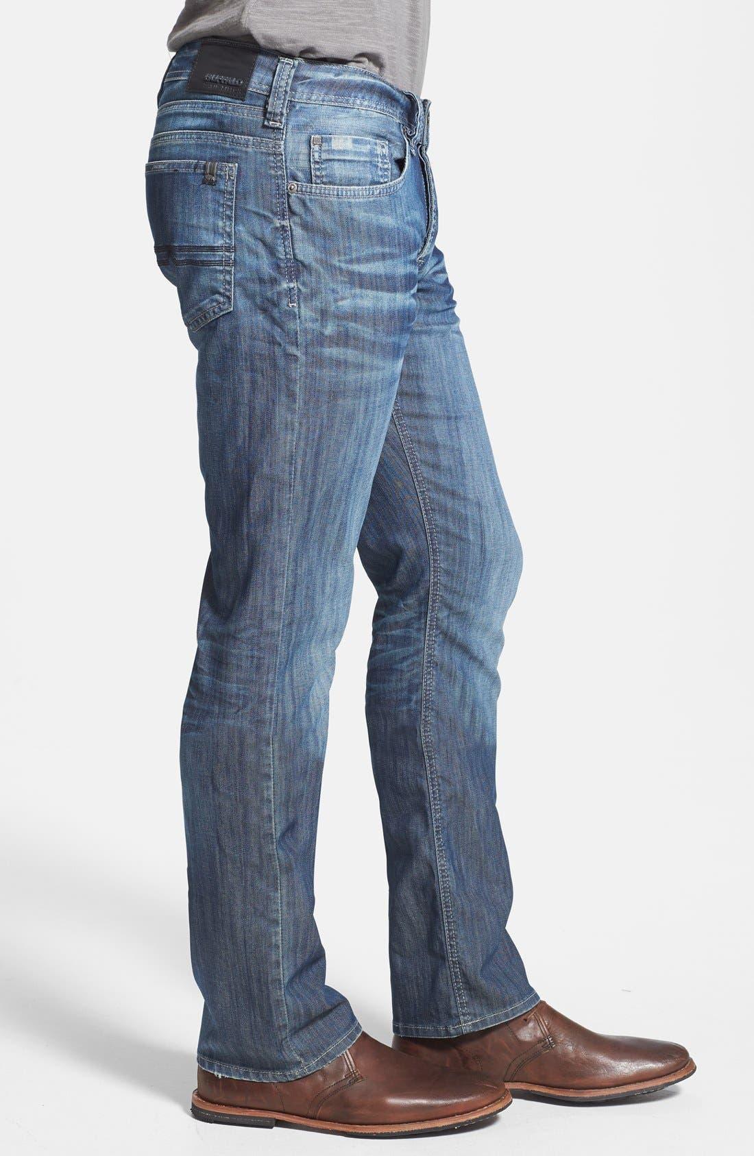 Alternate Image 3  - Buffalo Jeans 'Evan' Slim Straight Leg Jeans (Distress)