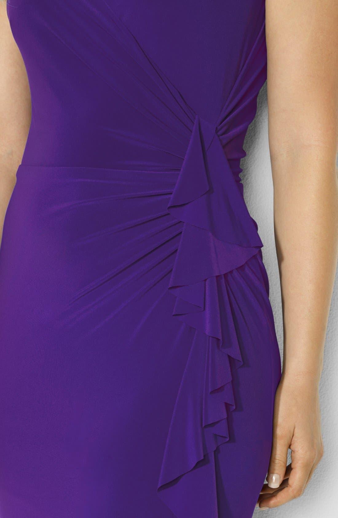 Alternate Image 3  - Lauren Ralph Lauren Flutter Sleeve Dress (Plus Size)