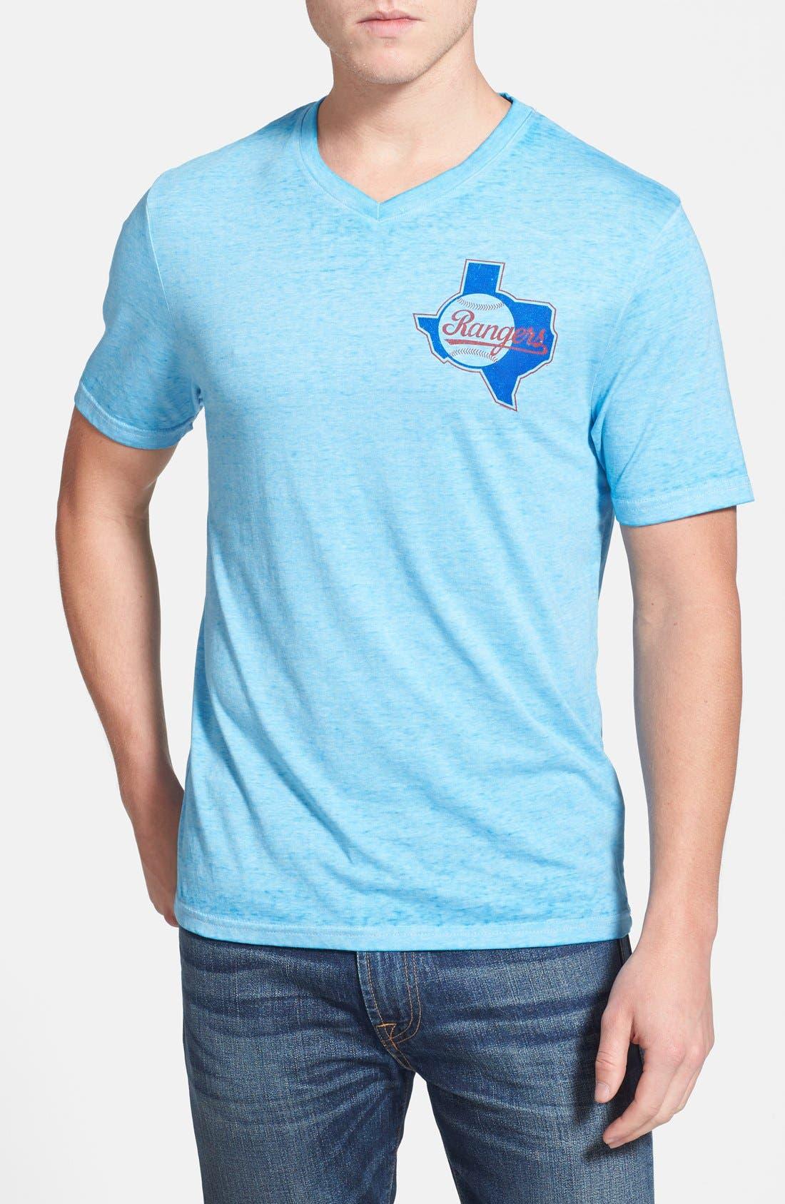 Main Image - Red Jacket 'Texas Rangers - Burnout' V-Neck T-Shirt