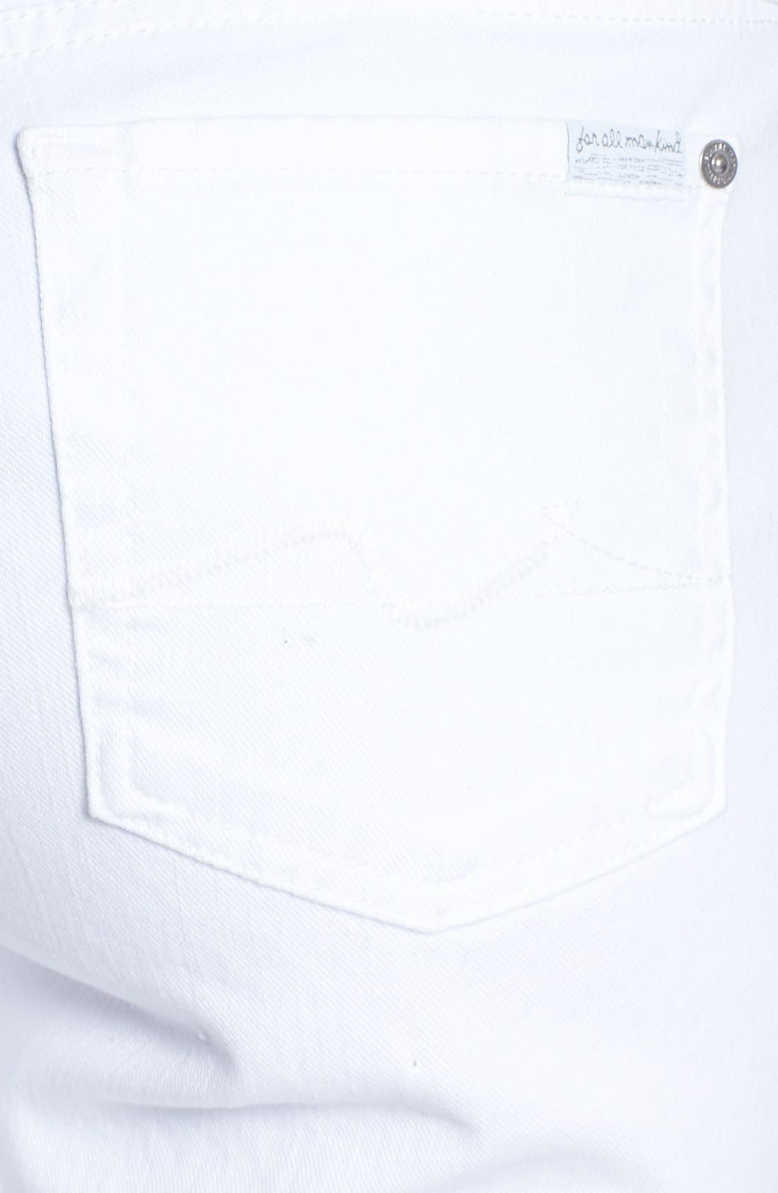 Alternate Image 3  - 7 For All Mankind® Denim Bermuda Shorts (Clean White)