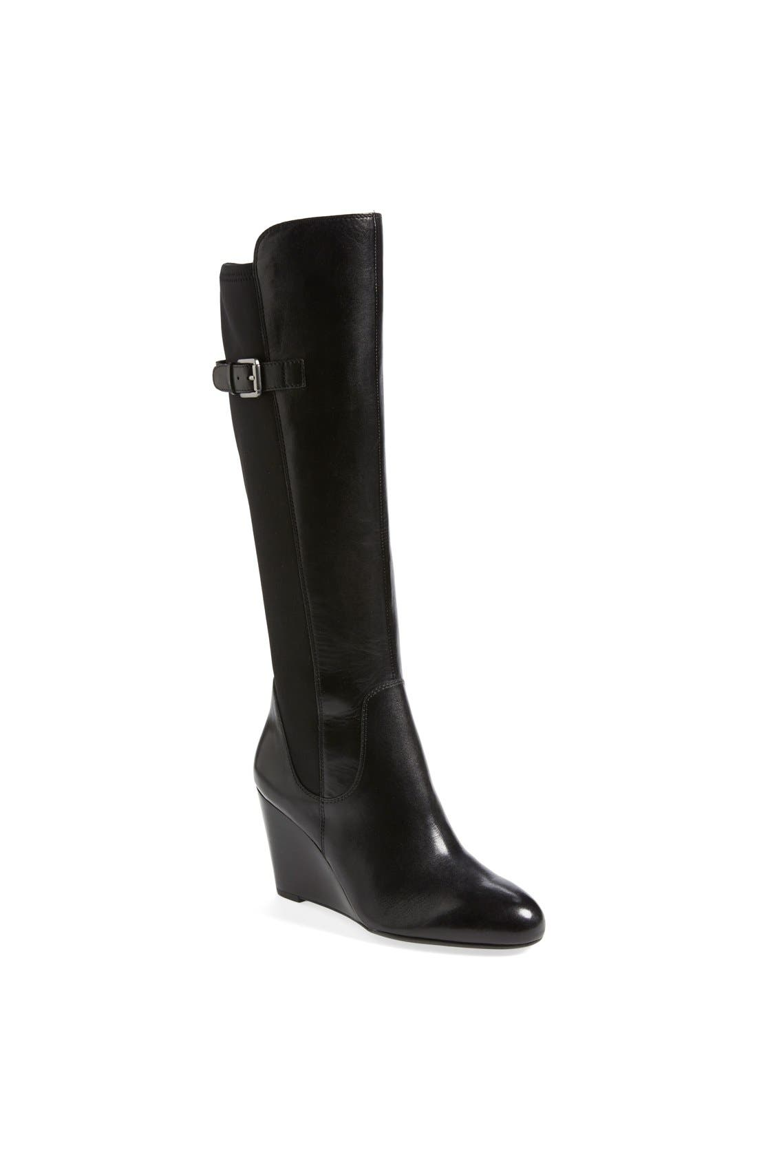 Main Image - Franco Sarto 'Obelisk' Knee High Wedge Boot (Online Only) (Women)