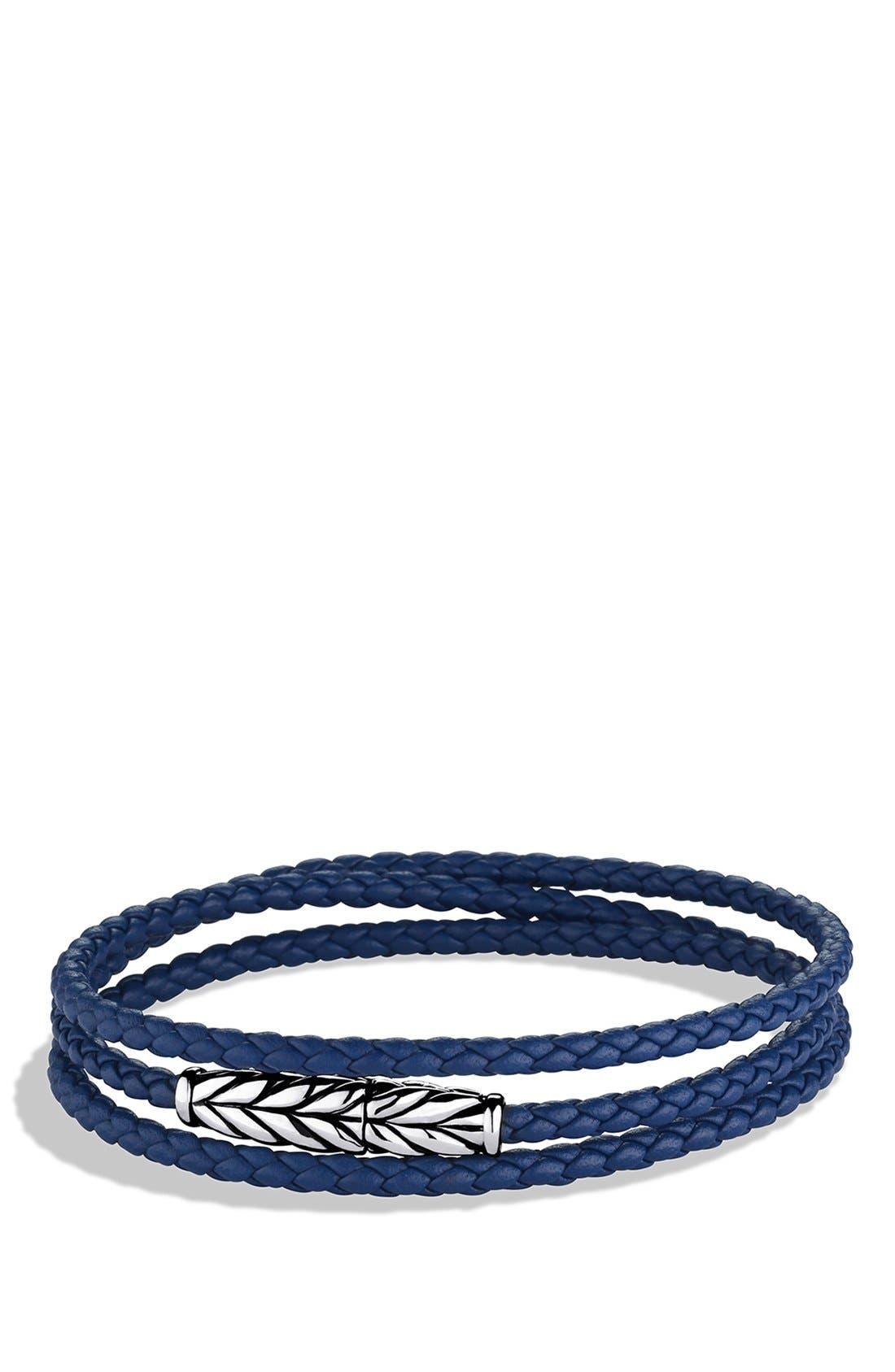 'Chevron' Triple-Wrap Bracelet,                         Main,                         color, Blue