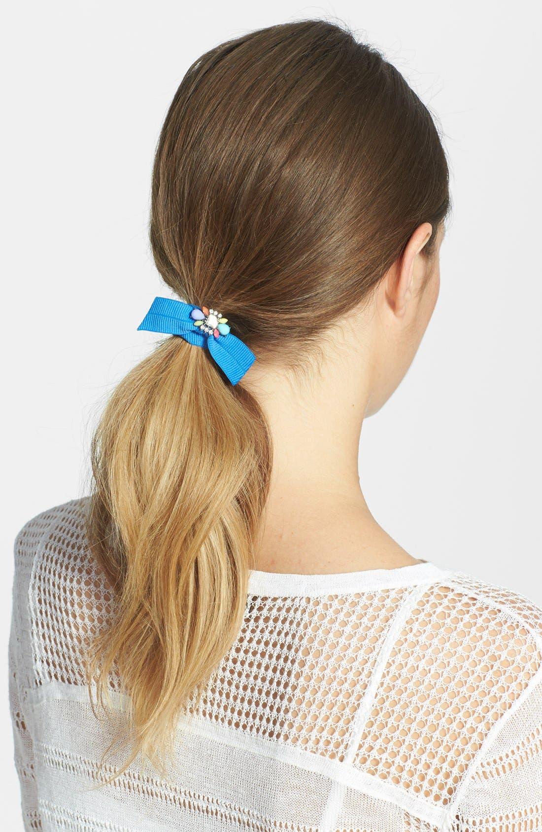 Alternate Image 1 Selected - Cara Jeweled Ponytail Holder