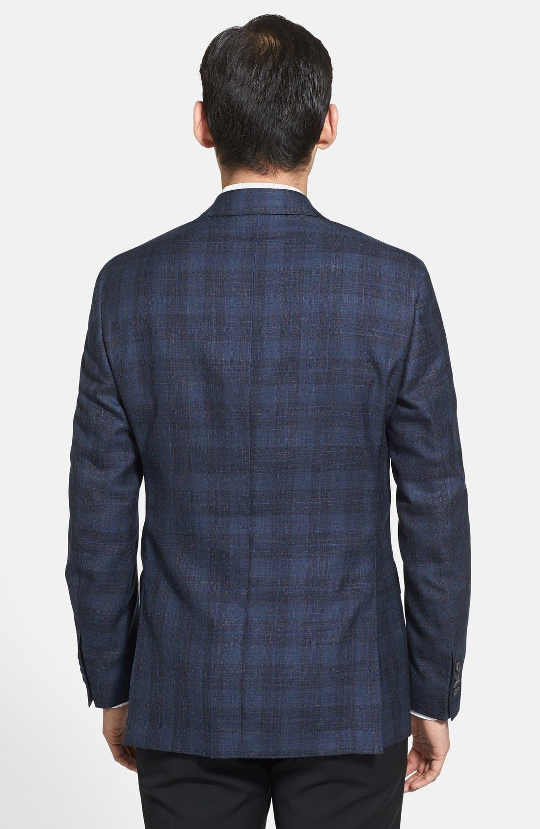 Alternate Image 2  - Salvatore Ferragamo Wool Blend Plaid Blazer