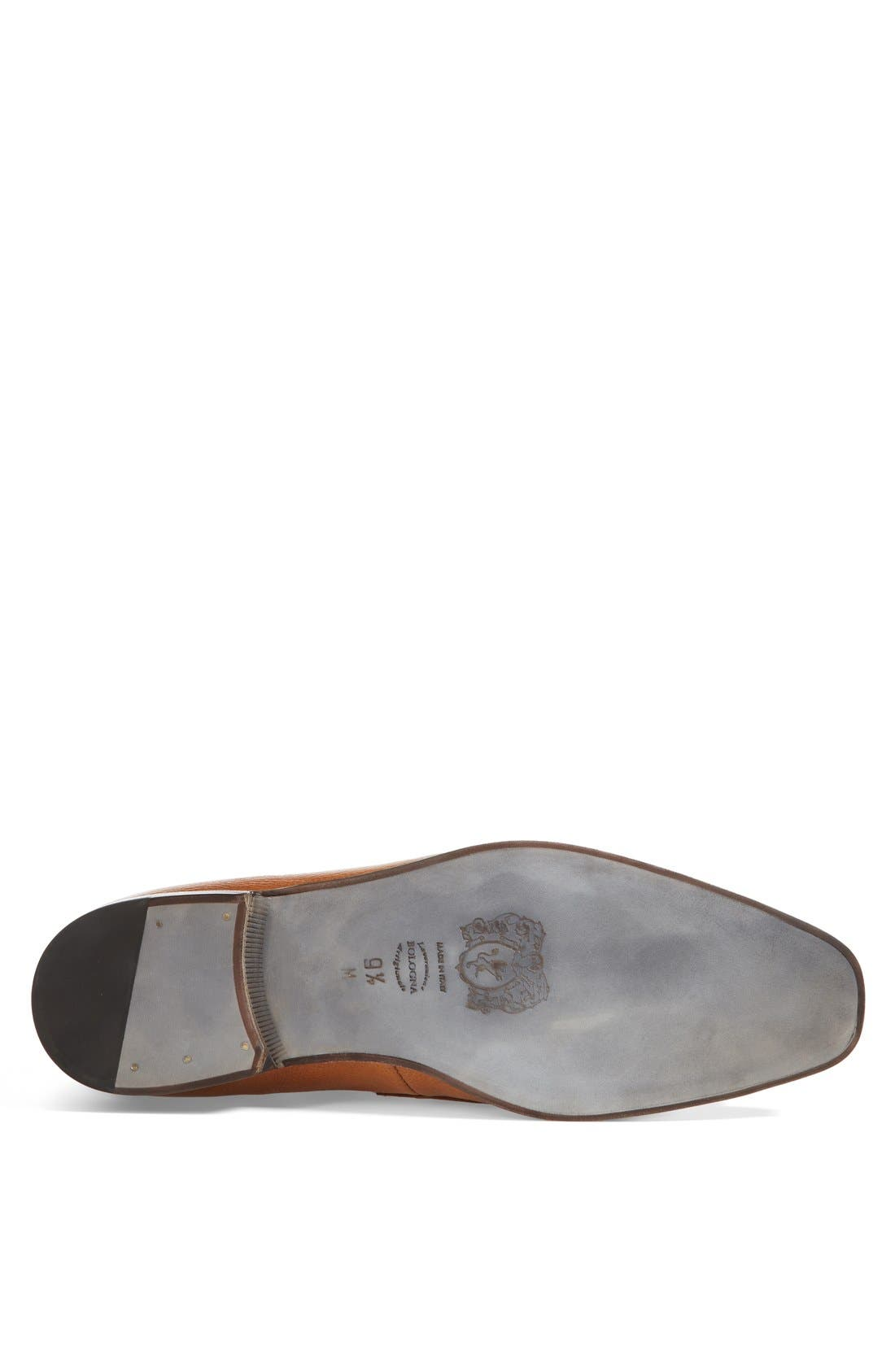 'Mamante II' Pebbled Leather Loafer,                             Alternate thumbnail 4, color,                             Light Brown