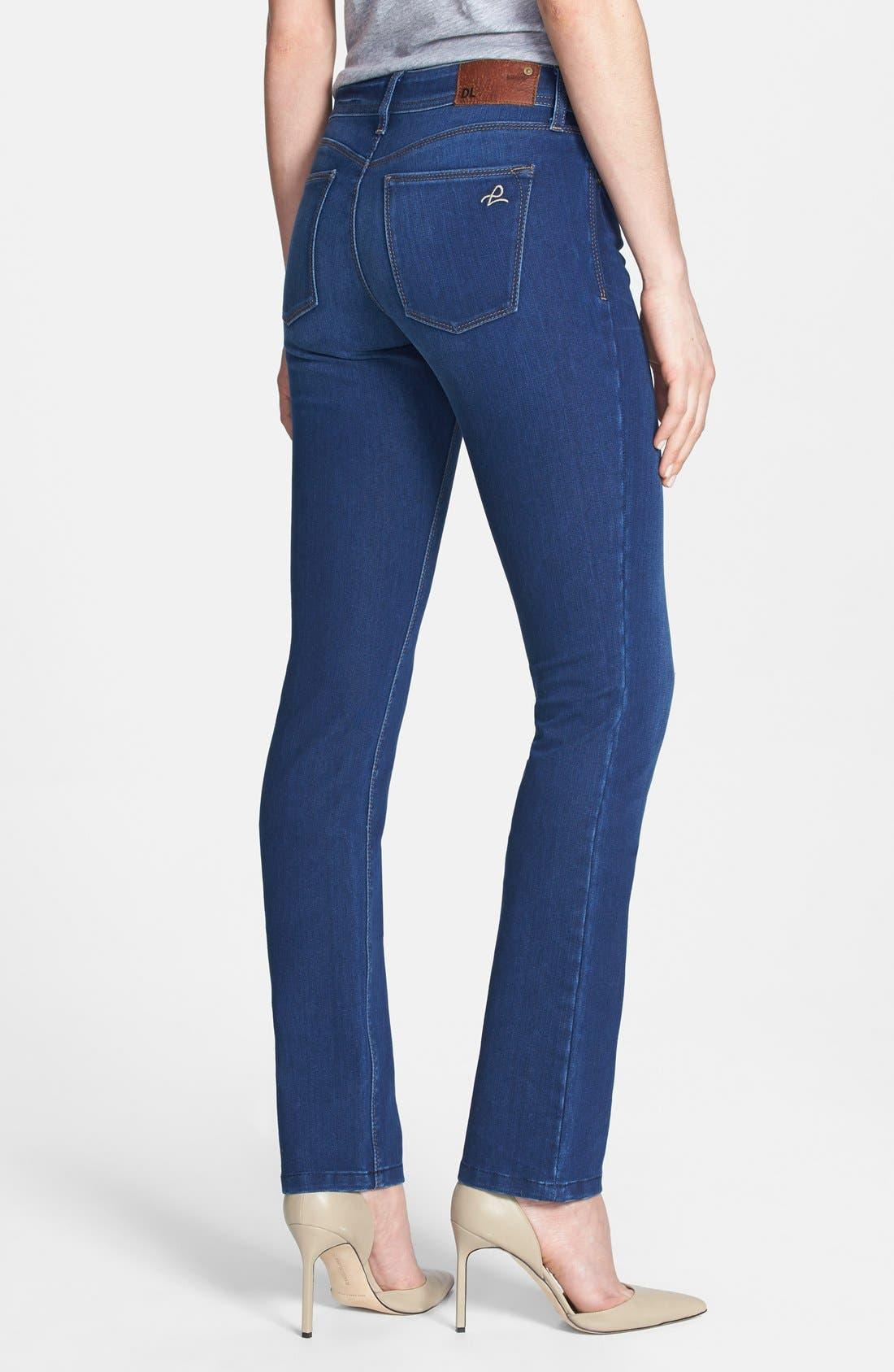 Alternate Image 2  - DL1961 'Grace' Straight Jeans (Dyer)