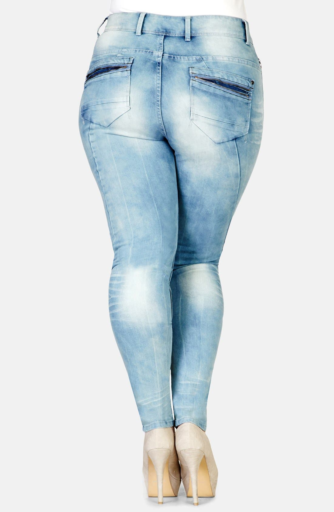 Alternate Image 2  - City Chic 'Miss Attitude' Skinny Jeans (Plus Size)