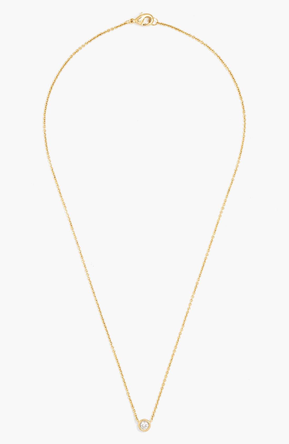 Alternate Image 2  - BaubleBar Round Crystal Pendant Necklace (Online Only)