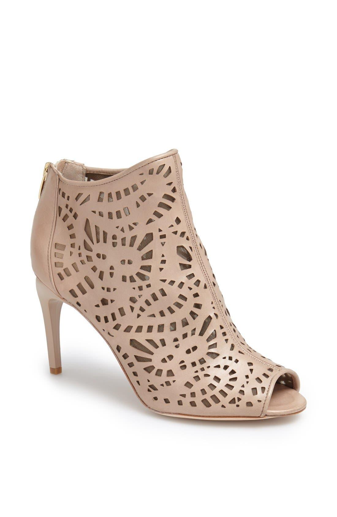 Main Image - Carolinna Espinosa 'Burbank' Geometric Cutout Leather Bootie